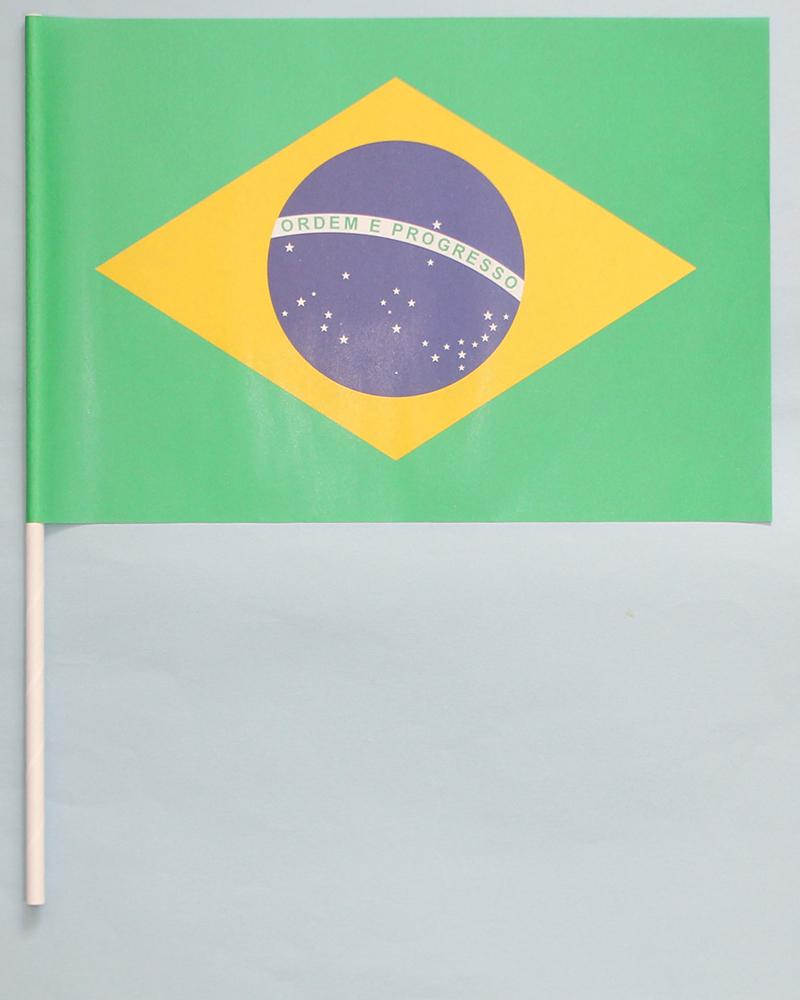 スポーツ オリンピック の応援に バースデー 記念日 ギフト 贈物 お勧め 通販 イベントの盛り上げに ブラジル 紙 国旗 送料無料/新品 手旗 旗