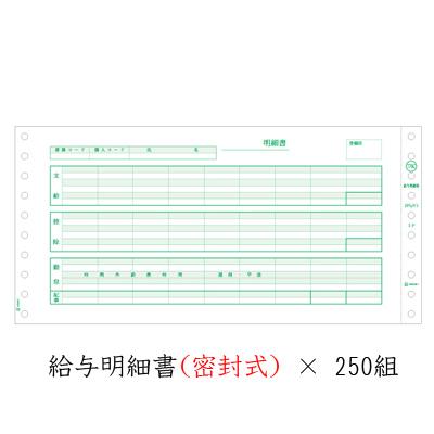 【マラソン 期間限定!ポイント10倍!】【個人様購入可能】[sss]●送料無料 ヒサゴ 給与明細書(密封式) × 250組 71348