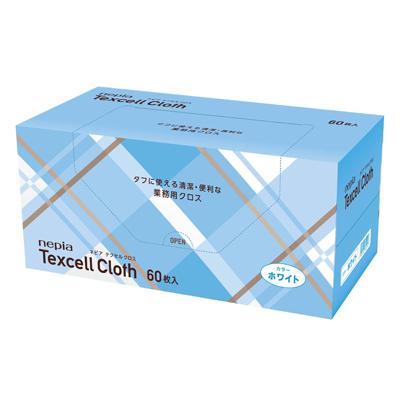 【法人・企業様限定販売】[sss]○お取り寄せ商品 ネピア テクセル クロス ホワイト 60枚×6コ 02407