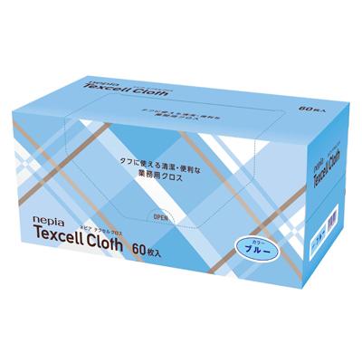 【法人・企業様限定販売】[sss]○お取り寄せ商品 ネピア テクセル クロス ブルー 60枚×6コ 02408