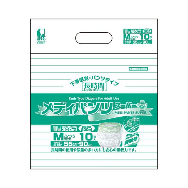 【マラソン 期間限定!ポイント10倍!】【個人様購入可能】[sss]●送料無料 近澤製紙 メディパンツスーパー M 10枚×8袋 11131