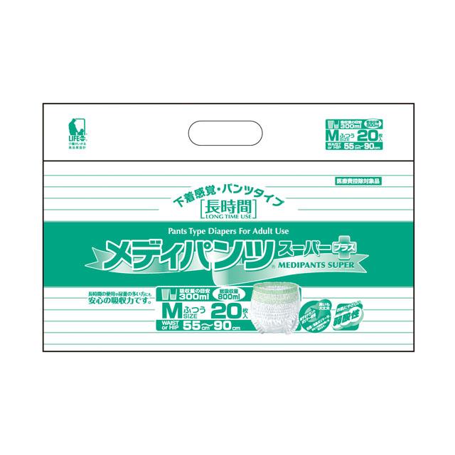 【個人様購入可能】[sss]●代引き不可 送料無料 近澤製紙 メディパンツ スーパー M 20枚×4袋 11133