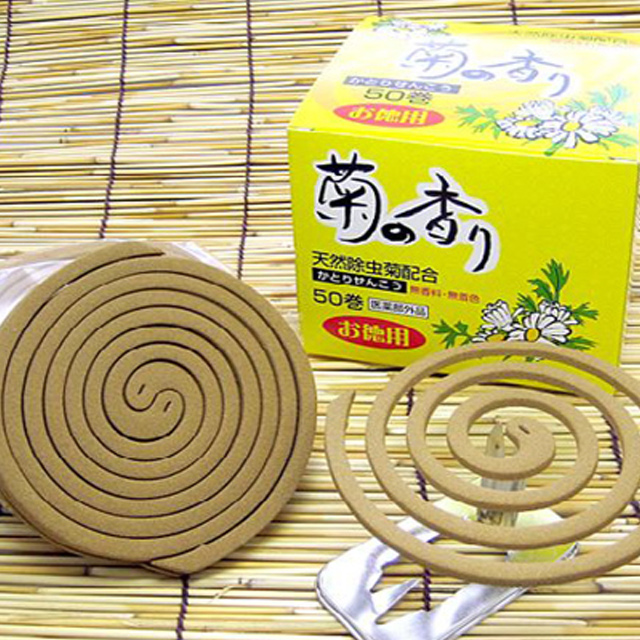 【個人様購入可能】●代引き不可 天然除虫菊配合 菊の香り50巻×16箱 61117