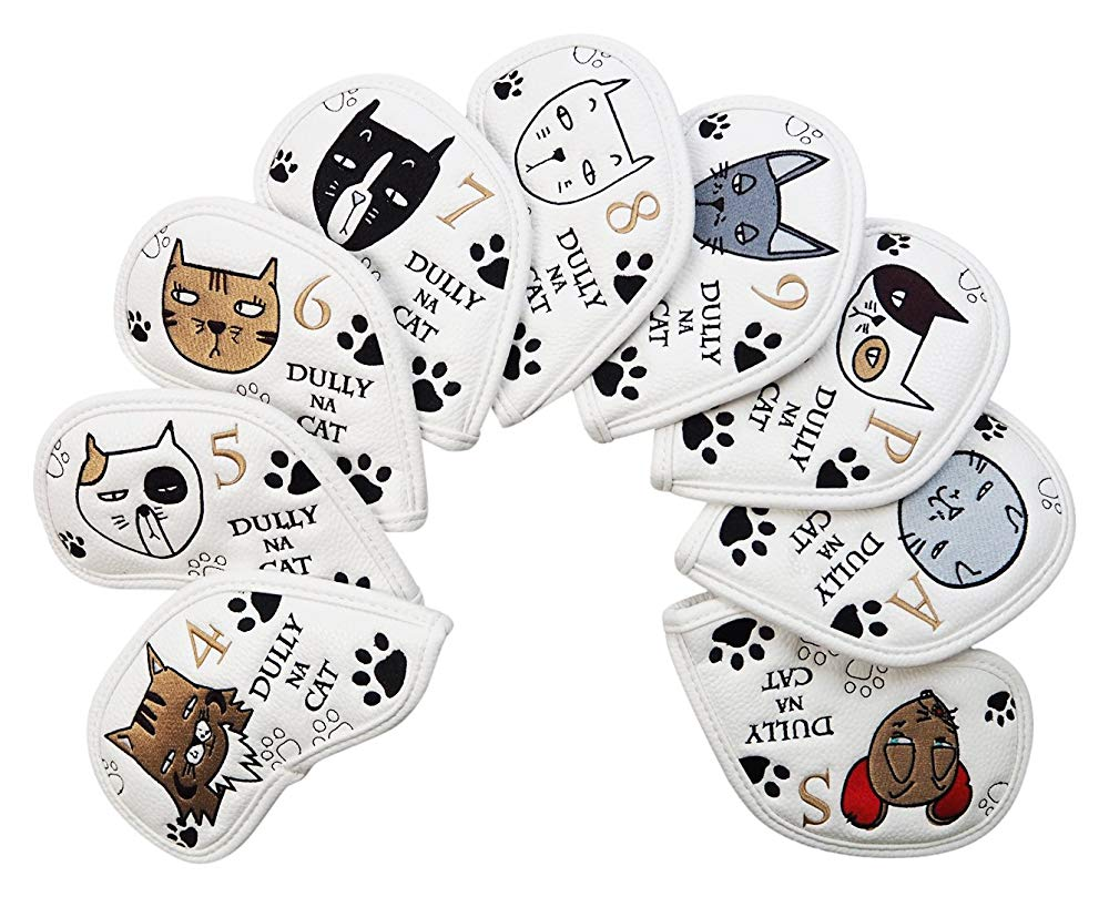 DULLY NA CAT(ダリーナキャット) ヘッドカバー DULLY NA CAT ゴルフアイアンカバー【9pcs SET】 ユニセックス DN-IC 送料無料