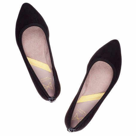 [バタフライツイスト] 国内正規品 JANEY ジェイニー 靴 パンプス 折りたたみ シューズ (23.5cm(37), BLK MATT)