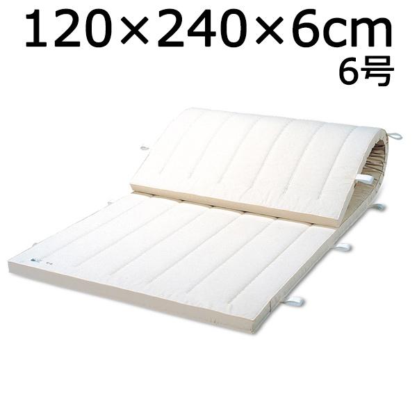 体操マット 6号 マット運動 練習 マット SGマーク付体操マット 120×240×厚6cm 送料無料