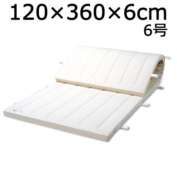 体操マット 6号 SGマーク付マット 体操 体育マット 120×360×厚6cm 送料無料
