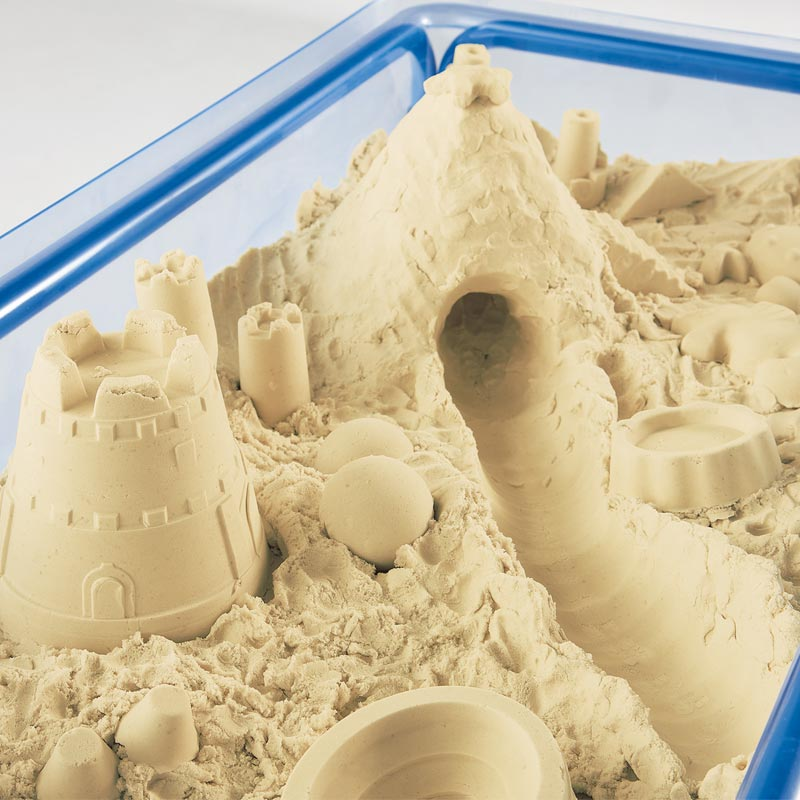 雨の日も楽しい砂遊びがお部屋できちゃう 送料無料 お家の中で砂遊びが出来る不思議な砂 室内砂場遊び・モーションサンド 3kg 送料無料