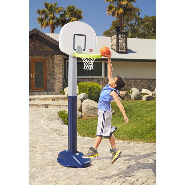 室内 屋外兼用 183cmまで調整可能で長く使える バスケットゴール 格安SALEスタート 送料無料 子供用 ボール付 little アジャストバスケットゴール 社製 リトルタイクス tikes 供え