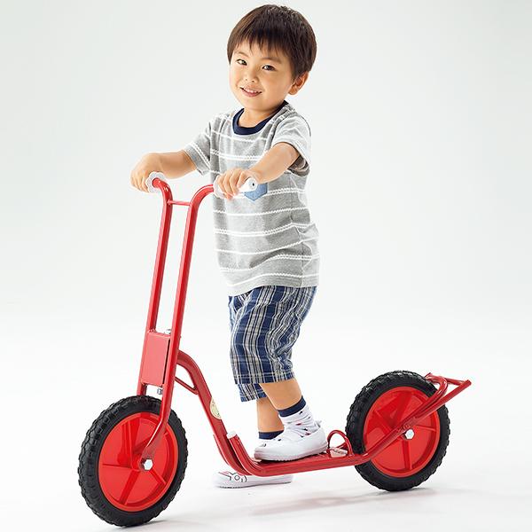 子供用 乗物遊具 遊びながらバランス感覚や脚力が養える 二輪スクーターDX スタンド付き 送料無料