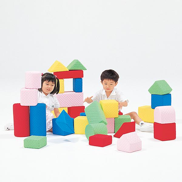 積み木 大型つみきブロック 汚れても洗える大型つみきブロック キルディブロック(15cm基尺)Aセット(30個) 送料無料