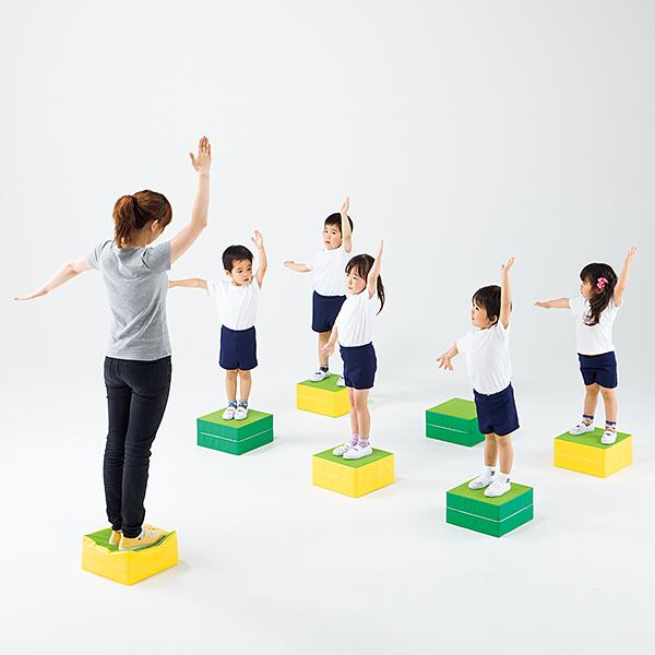 室内運動用ブロック バランス感覚 運動神経アップ バランスキューブ 10個組 送料無料