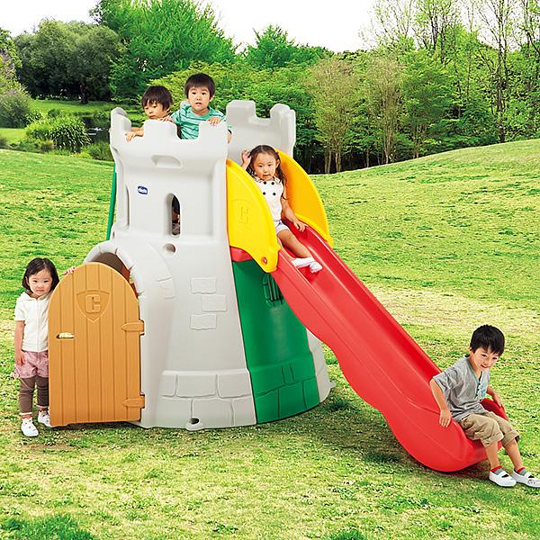 chicco お城をモチーフにしたすべり台付き大型遊具 キッコ・キャッスルスライド 送料無料