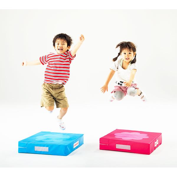 こども用 運動遊具 バランス 平衡感覚 脚力が養える 特殊なクッション ホップジャンプベース 1枚 送料無料