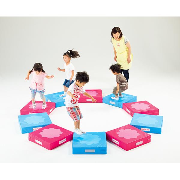 こども用 運動遊具 バランス 平衡感覚 脚力が養える 特殊なクッション ホップジャンプベース 10枚組 送料無料