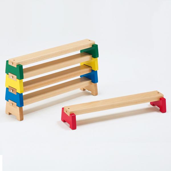 室内でのアスレチック遊びに 新作 大人気 送料無料 子どものバランス運動に 超安い コンパクトな平均台セット 5本組 室内用 カラー平均台