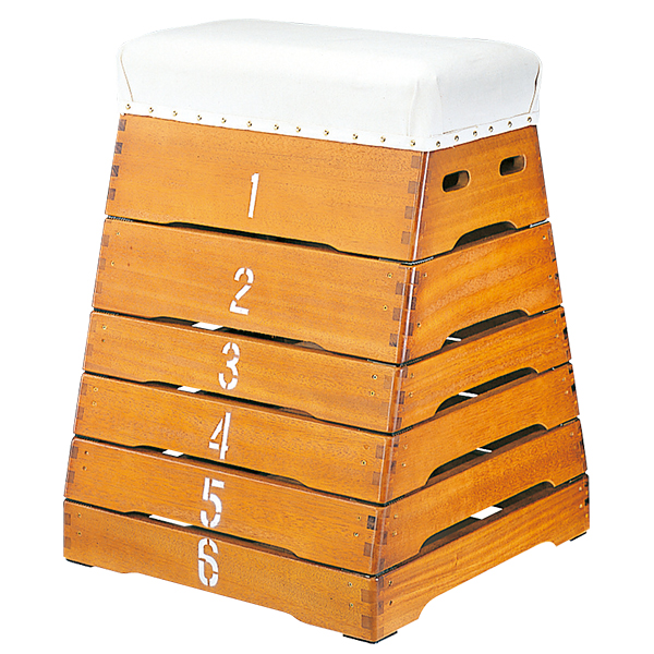 とび箱 6段 ノンスリップゴム付 跳び箱 富士型跳び箱 シックハウス対応 送料無料