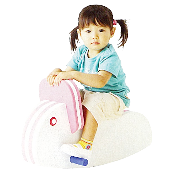 シーソー 一人用 子供用ゆらゆらシーソー(うさぎ) 楽しく遊びながらバランス感覚を養える 送料無料