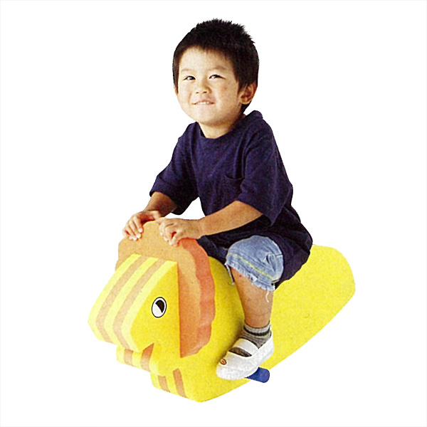 シーソー 1人用 子供用ゆらゆらシーソー(ライオン) 楽しく遊びながらバランス感覚を養える 送料無料