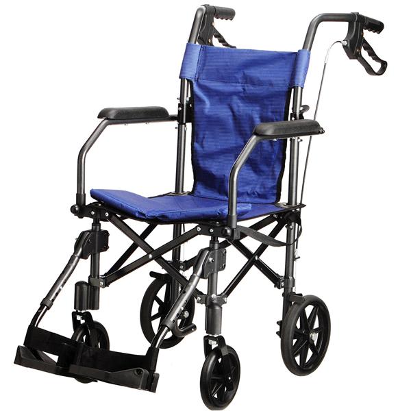 [非課税]介助用車いす 車椅子 折りたたみ 軽量 携帯用 介助 お出かけ ハンディライトプラス 送料無料