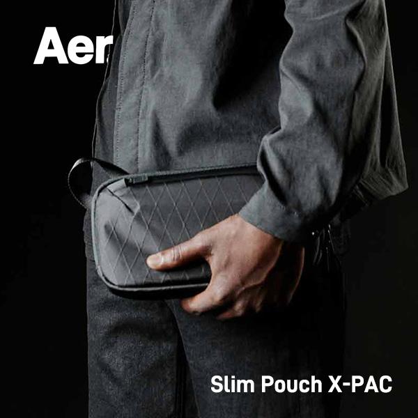 テック系のアイテムとの相性抜群で収納力に優れたポーチ Aer 即出荷 エアー SLIM POUCH X-PAC スリムポーチ 売り出し ポーチ ジム 日 ツナグテ ビジネス 防水 メンズ おしゃれ 旅行 機内バッグ