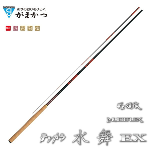 がまかつ (Gamakatsu) がま渓流 マルチフレックス テンカラ水舞 EX 4.5m (お取り寄せ商品)