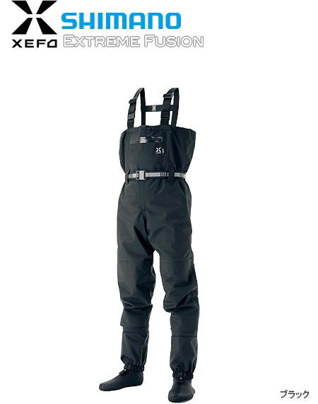 シマノ XEFO (ゼフォー) ドライシールド ストッキングウェーダー WA-224J (ブラック/Lサイズ) (S01) (O01) (送料無料) / セール対象商品 (3/4(月)12:59まで)