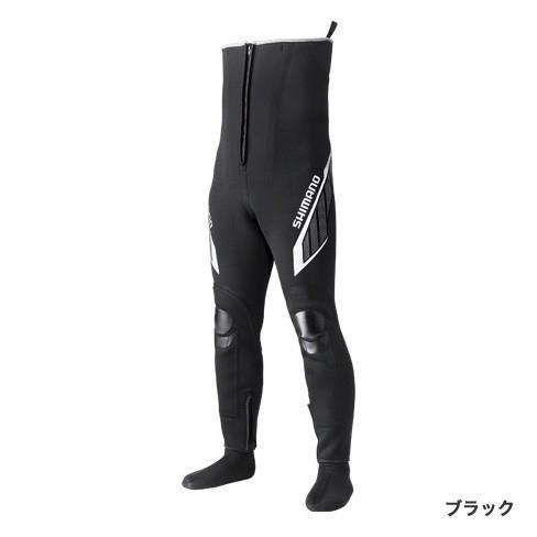 シマノ フィットウェーダー(中丸) T-2.5 WA-034R ブラック MO(M) サイズ / 鮎タイツ (送料無料) (S01)