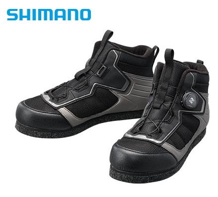 シマノ カットラバーピンフェルトフィットシューズ LT FS-041Q ブラック 25.5cm (送料無料) (S01) (O01)