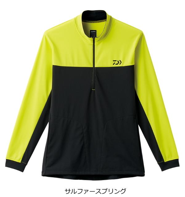 ダイワ BUG BLOCKER+UV 防蚊ハーフジップシャツ DE-52008 サルファースプリング Lサイズ (O01) (D01) / セール対象商品 (10/31(木)12:59まで)