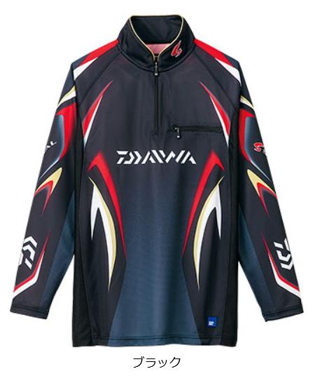 ダイワ スペシャル アイスドライ(R) ジップアップ長袖メッシュシャツ DE-7006 ブラック 3XL(4L)サイズ (送料無料) (O01) (D01) / セール対象商品 (3/29(金)12:59まで)
