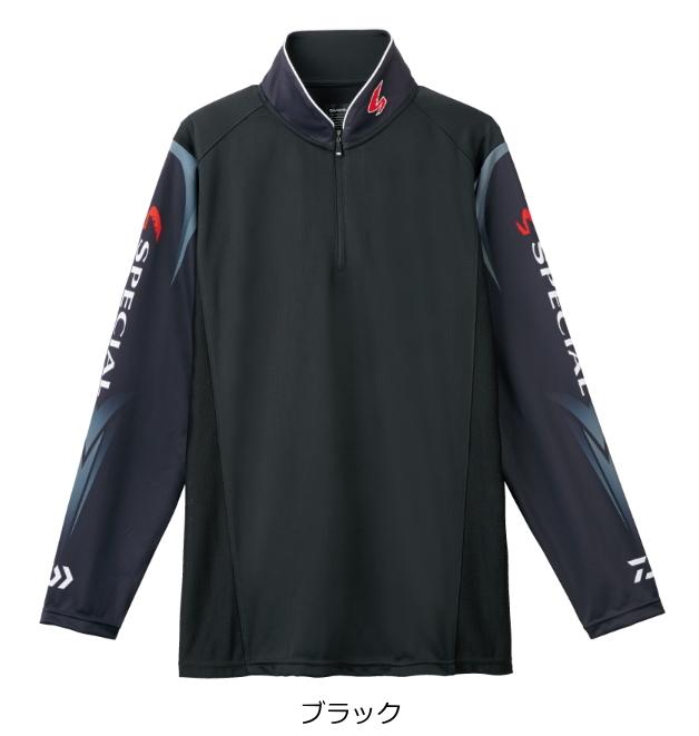 ダイワ スペシャル ウィックセンサー(R) ジップアップ長袖メッシュシャツ DE-7207 ブラック 2XL(3L)サイズ (送料無料) (O01) (D01)