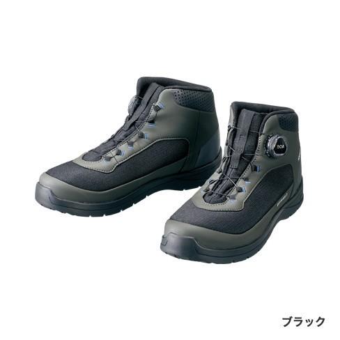 シマノ ドライシールド デッキラジアルフィットシューズ HW FS-082R ブラック 25.5cm (送料無料) (S01) (O01)