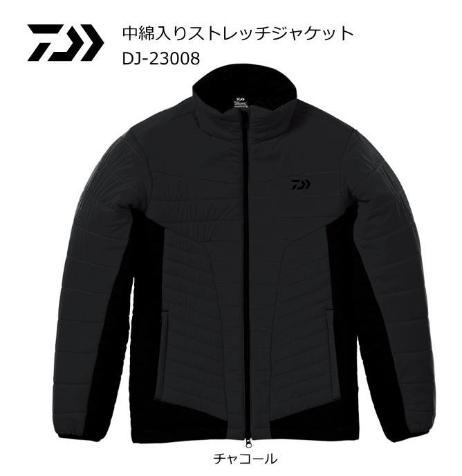 (冬物セール) ダイワ 中綿入りストレッチジャケット DJ-23008 チャコール 3XL(4L)サイズ (送料無料)