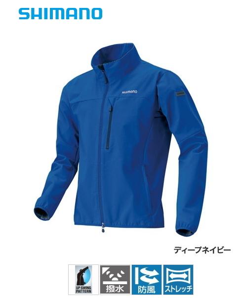 シマノ ストレッチ 3レイヤーフーディ ジャケット JA-040Q ディープネイビー 2XL(3L)サイズ (送料無料)