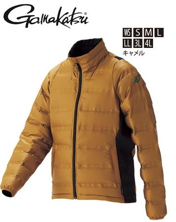 がまかつ シームレスファインダウンジャケット GM-3516 キャメル Lサイズ (お取り寄せ商品) (送料無料)