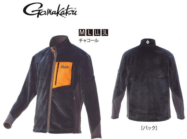 がまかつ ボアフリースジャケット GM-3526 チャコール Mサイズ (お取り寄せ商品) (送料無料)