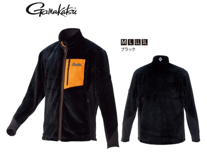 がまかつ ボアフリースジャケット GM-3526 ブラック Mサイズ (お取り寄せ商品) (送料無料)