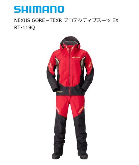 シマノ ネクサス ゴアテックス R プロテクティブスーツ EX RT-119Q レッド Lサイズ 【送料無料】 (S01) (O01)