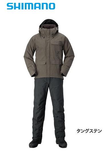 シマノ XEFO (ゼフォー) ゴアテックス(R) コージー スーツ RB-214Q タングステン Mサイズ / 防寒着 (送料無料) (S01) (O01)