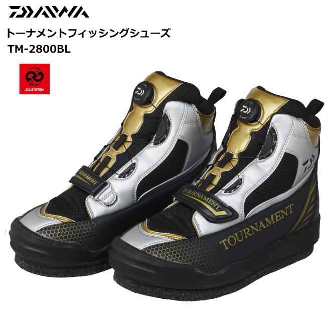ダイワ トーナメントフィッシングシューズ TM-2800BL シルバー 28cm / 磯靴 (O01) (D01) (送料無料)