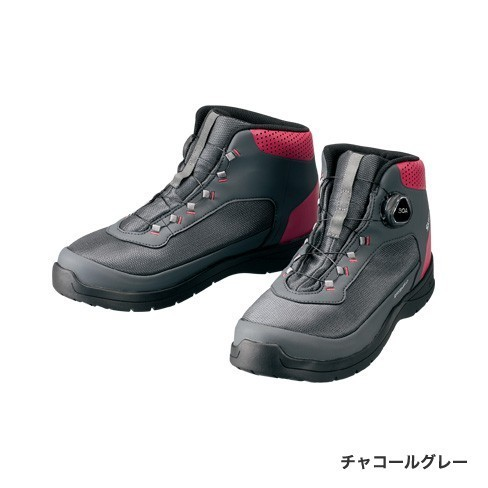 シマノ ドライシールド デッキラジアルフィットシューズ HW FS-082R チャコールグレー 24cm (送料無料) (S01) (O01)