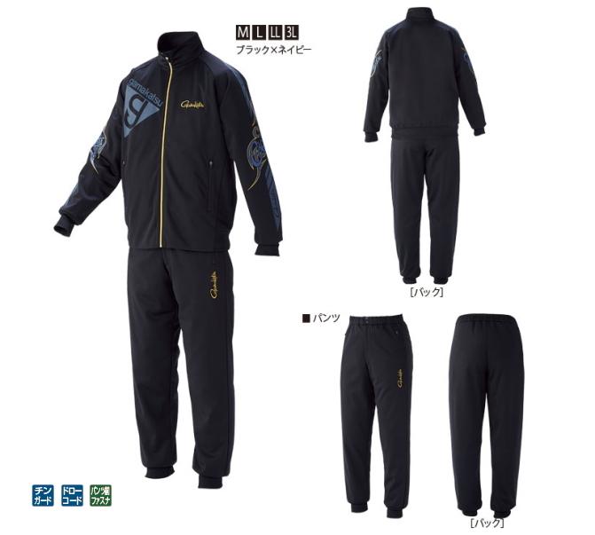 がまかつ ブリーズテックススーツ GM-3535 ブラック×ネイビー Mサイズ / 防寒着(送料無料) / セール対象商品 (3/29(金)12:59まで)