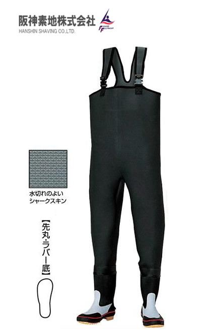 阪神素地 胴付長靴 (先丸・ラバー底) CF-403 26cm (O01) (送料無料)