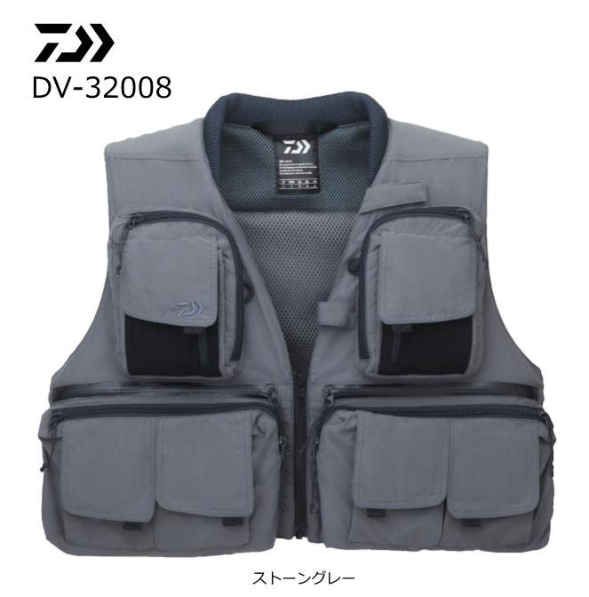 ダイワ フィッシングベスト DV-32008 ストーングレー Lサイズ (送料無料) (O01) (D01)