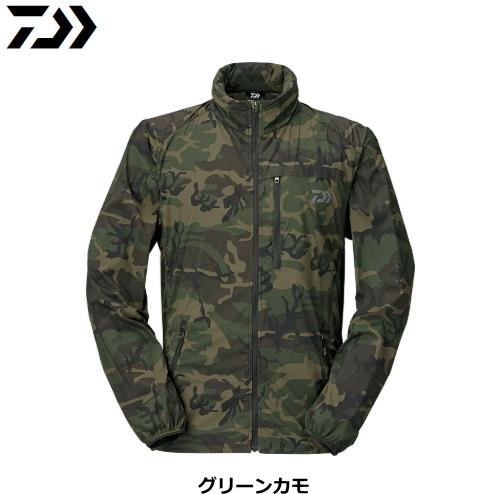 ダイワ ポケッタブルウィンドジャケット DJ-33009 グリーンカモ Sサイズ / ウエア フィッシング (送料無料)