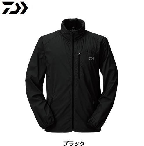 ダイワ ポケッタブルウィンドジャケット DJ-33009 ブラック Lサイズ / ウエア フィッシング (送料無料) (D01) (O01)