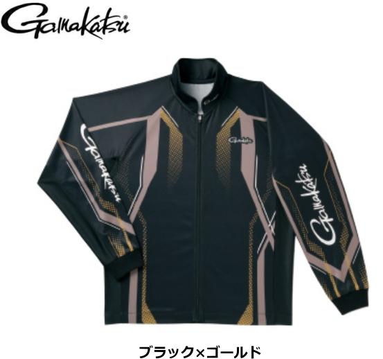 がまかつ フルジップトーナメントシャツ GM-3569 ブラック×ゴールド Sサイズ / ウエア (送料無料) / (お取り寄せ商品)