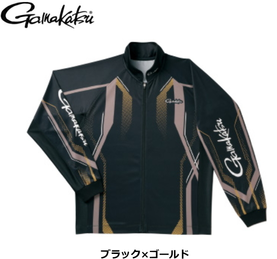がまかつ フルジップトーナメントシャツ GM-3569 ブラック×ゴールド Mサイズ / ウエア (送料無料) / (お取り寄せ商品) / セール対象商品 (12/26(木)12:59まで)