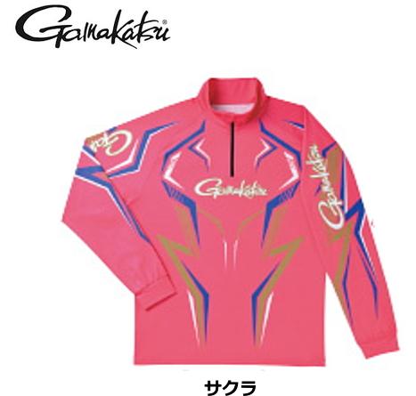 がまかつ 2WAYプリントジップシャツ(長袖) GM-3540 サクラ Lサイズ / ウエア フィッシング (送料無料) / (お取り寄せ商品)